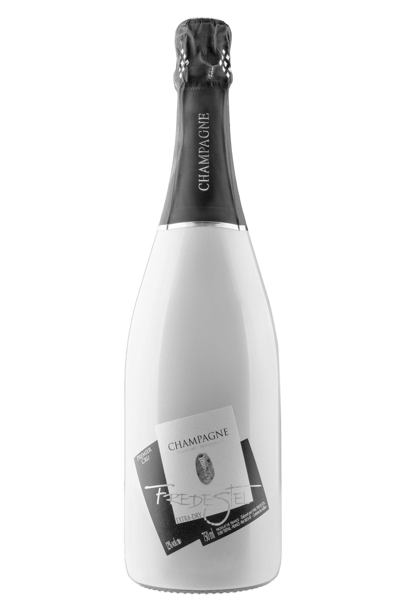 photographie de produit d'une bouteille de champagne