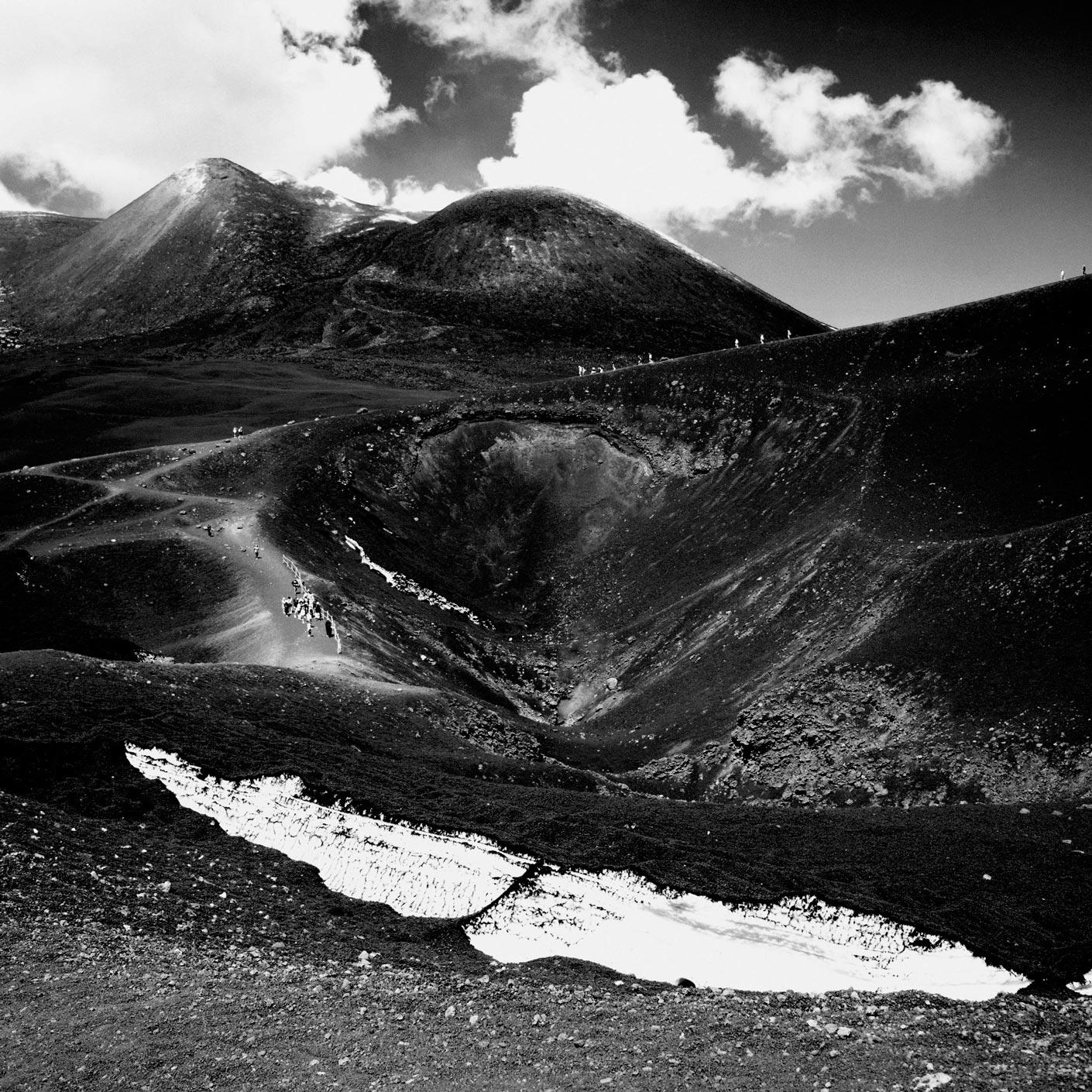 Photographie d'art de l'Etna, paysage lunaire