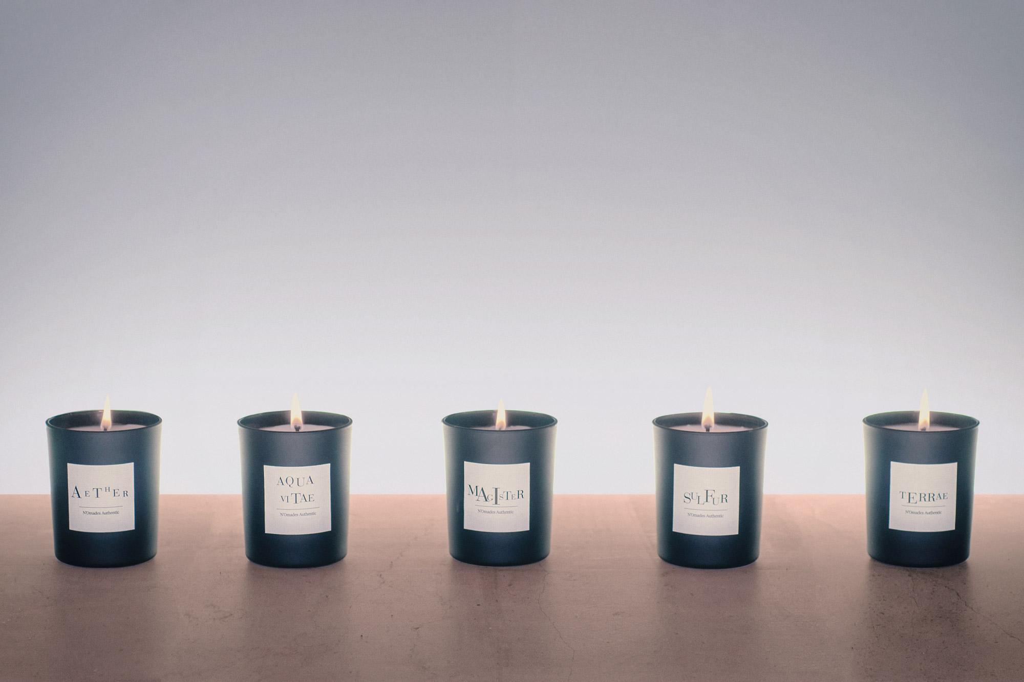 photographie publicitaire pour une gamme de bougies