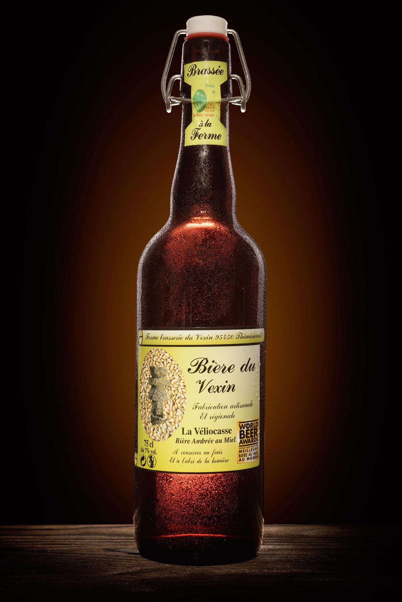 Photographie de la bouteille de Veliocasse de la Brasserie du Venin
