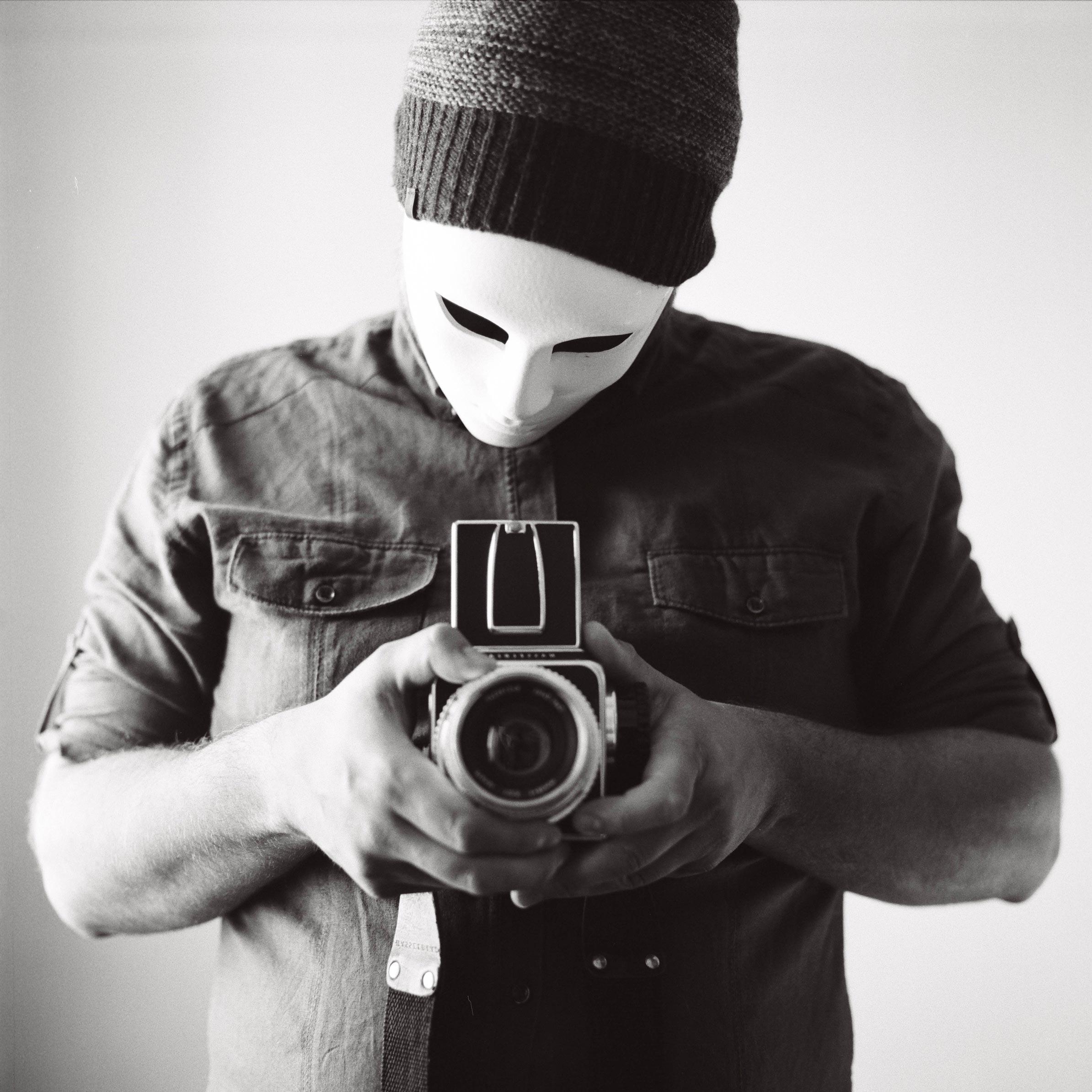 autoportrait au masque blanc